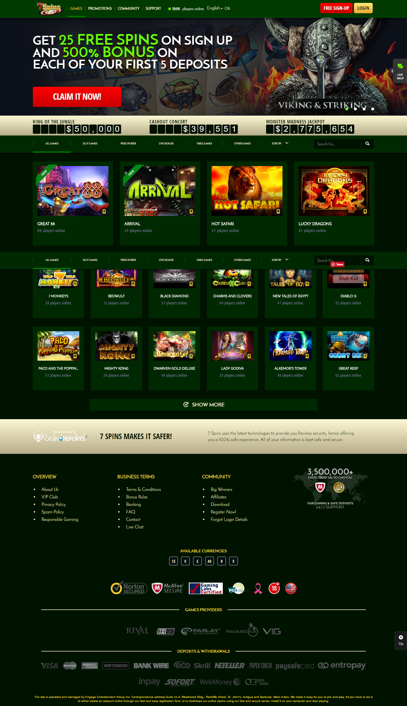 Scasino (Swiss Casino) Promo Codes
