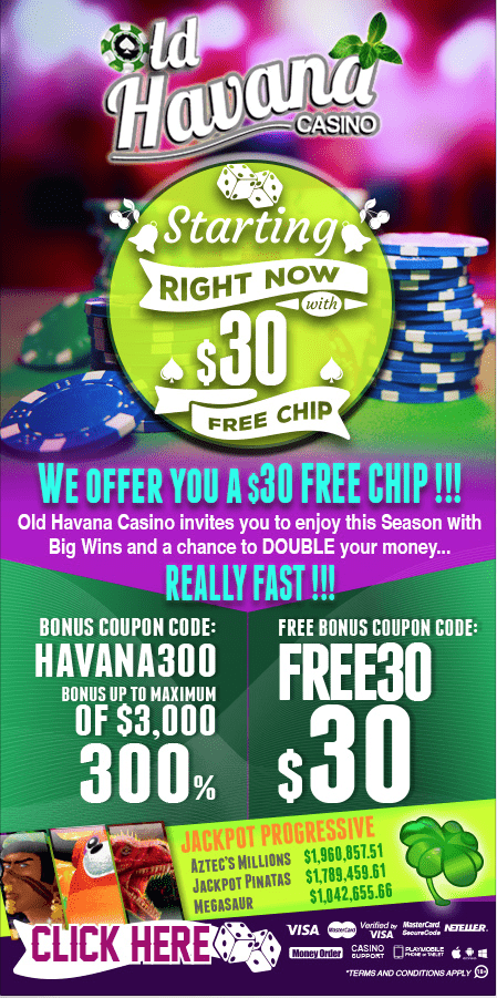 old havana casino no deposit bonus codes