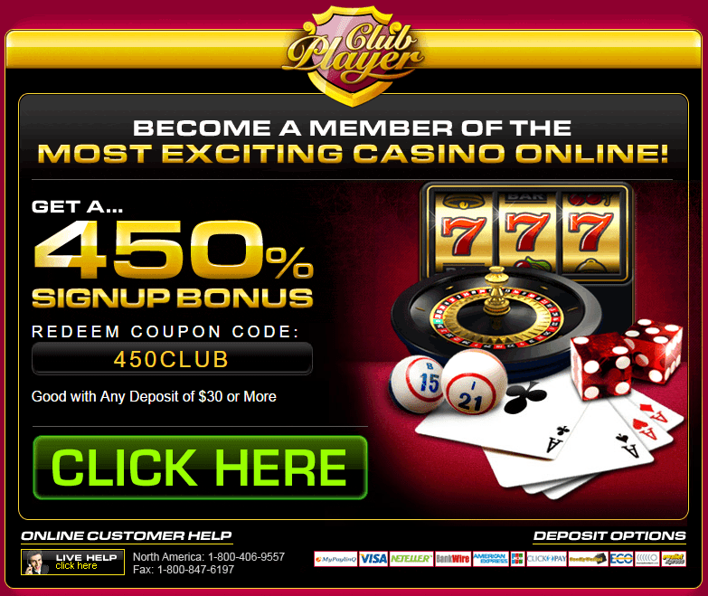 bonus codes for club player casino