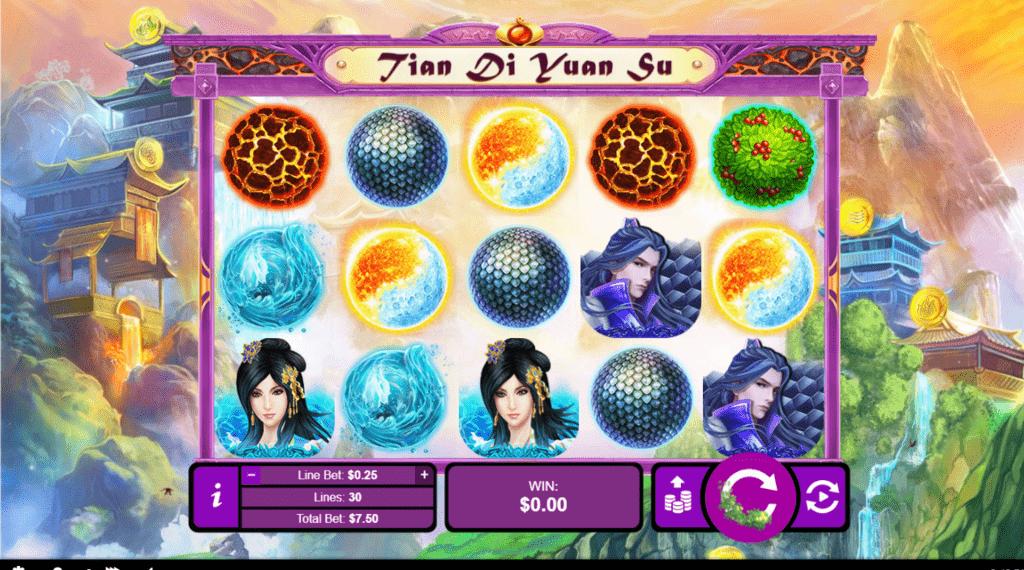 Slots of Vegas Red RTG Tian Di Yuan Su Gods of Nature