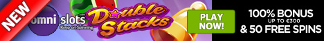 OmniSlots 100% Match Up to 300 plus 50 FREE Spins NetEnt Double Stacks