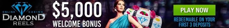 Diamond Reels Casino $5000 Welcome Bonus