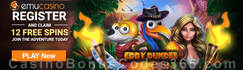 EmuCasino 12 FREE Spins GameArt Eddy Dundee