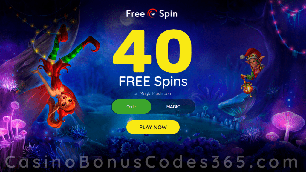 FREE Spin Casino 40 FREE RTG Magic Mushroom Spins Welcome Deal
