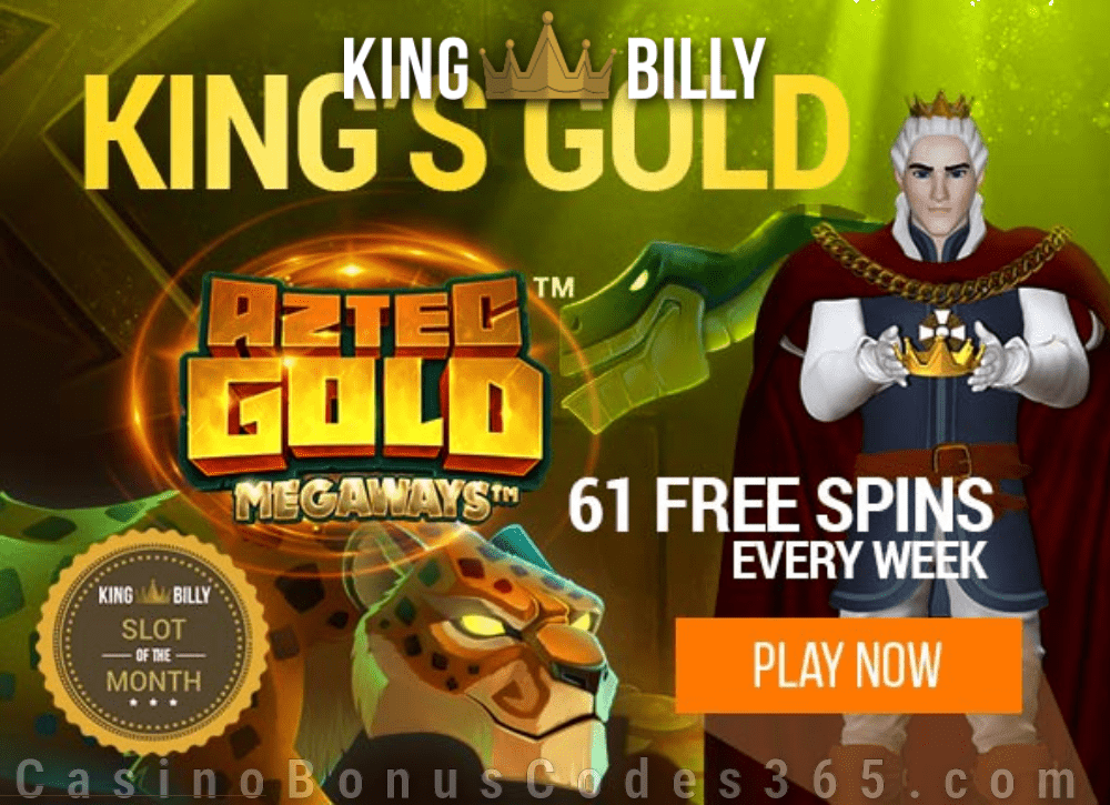 King Billy Casino Aztec Gold Megaways February Slot of the Month
