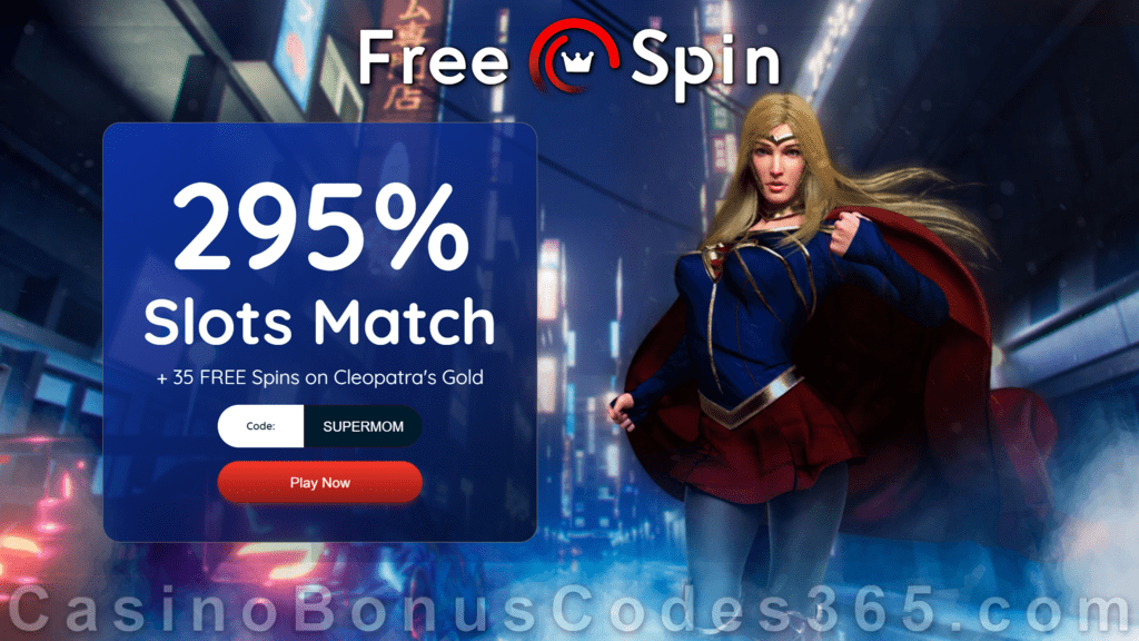 FREE Spin Casino 295% Match plus 35 FREE Spins on RTG Cleopatra's Gold Mother's Day 2021 Super Offer
