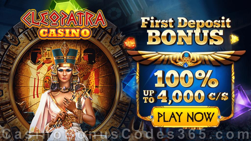 Kasino Cleopatra 100% hingga €4000 Bonus Setoran Pertama