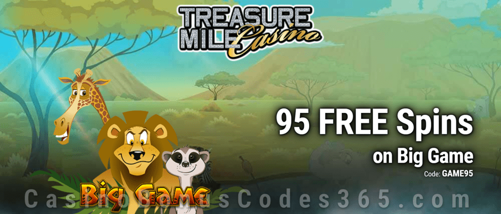 Treasure Mile Casino 85 FREE Saucify Big Game Spins Exclusive Offer