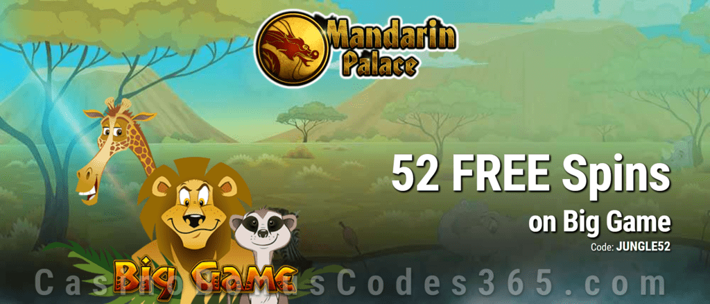 Mandarin Palace Online Casino Exclusive 85 FREE Spins on Saucify Big Game Exclusive Offer