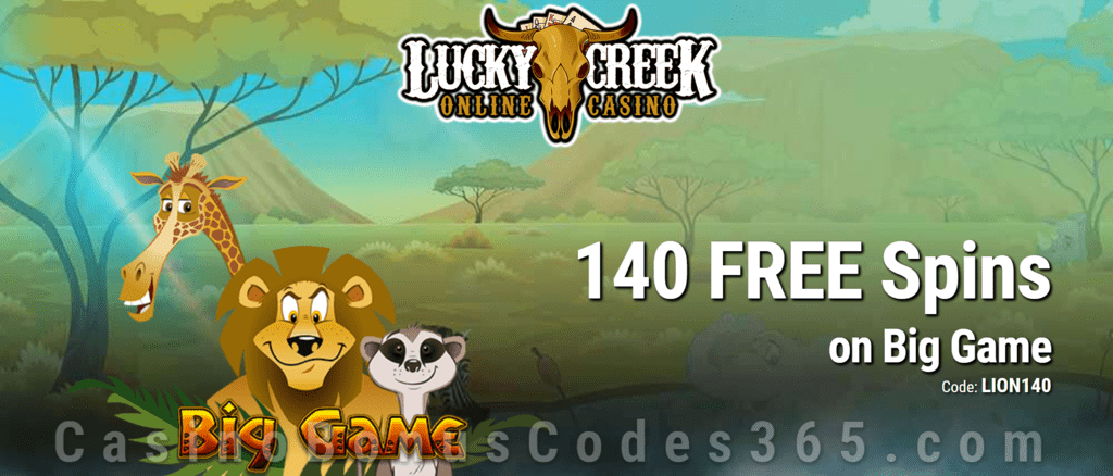 Lucky Creek 140 FREE Spins on Saucify Big Game Exclusive Promo