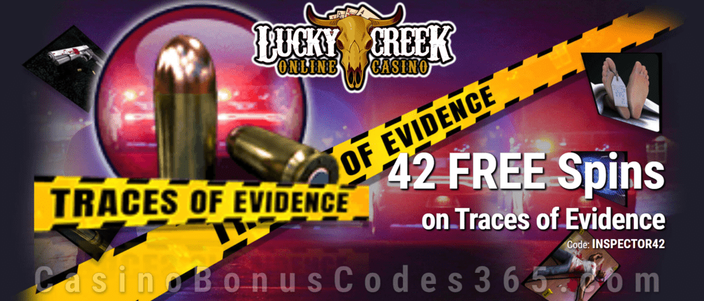 Lucky Creek 42 FREE Saucify Traces of Evidence Spins Exclusive Deal