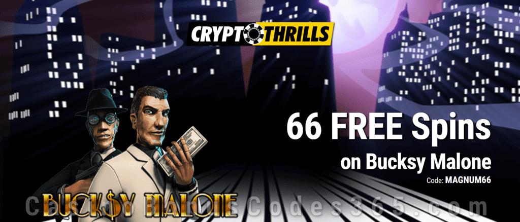 CryptoThrills Casino 66 FREE Saucify Bucksy Malone Spins Exclusive Deposit Deal