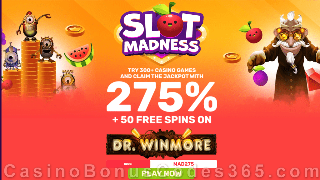 Slot Madness $50 FREE Chip Special No Deposit Offer RTG