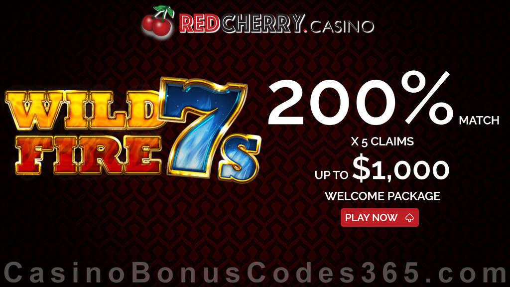 Red Cherry Casino 200% Match Slots Welcome Bonus