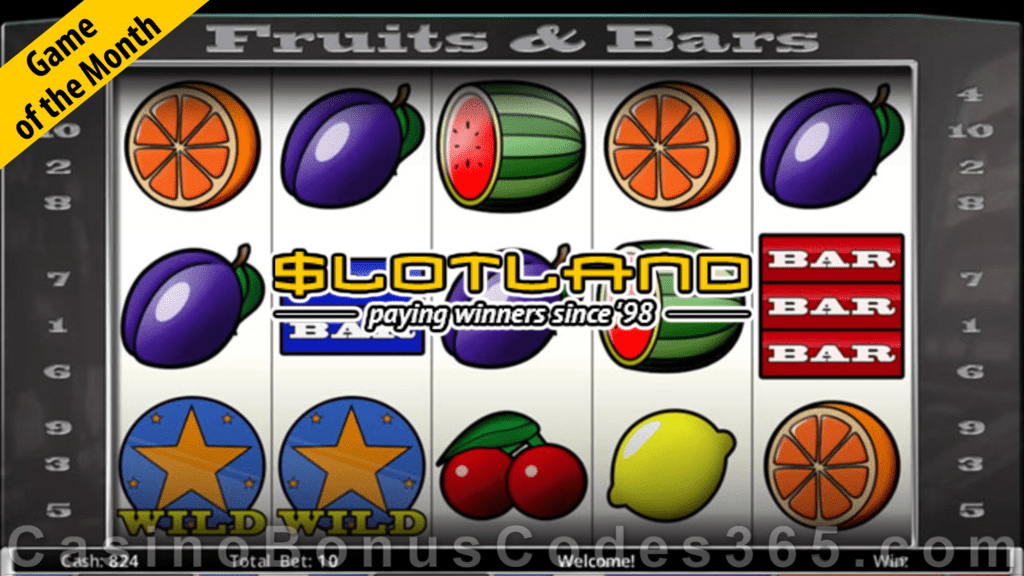Slotland Casino Fruits & Bars May Game of the Month Special Offer