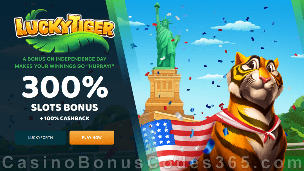 Lucky Tiger Casino Xmas 2020 300% Match Slots Bonus Welcome Deal