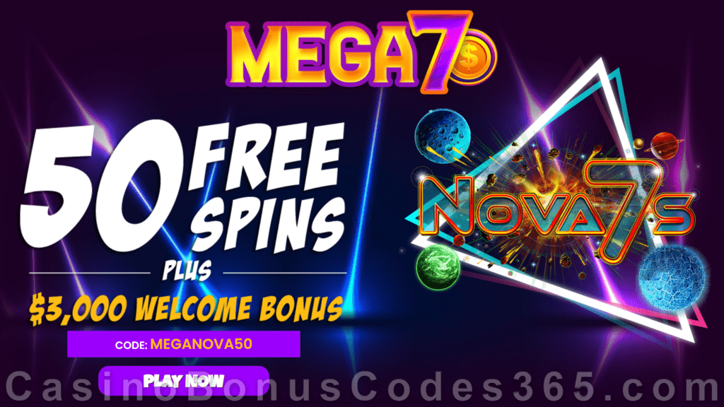 Mega7s Casino RTG Nova 7s Exclusive FREE Spins